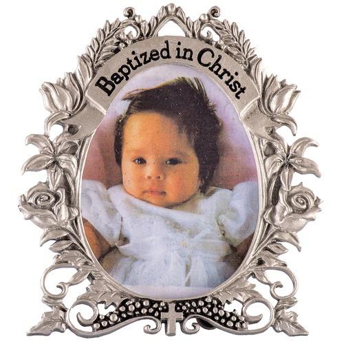 Baptism Floral Frame