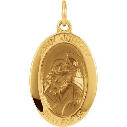 14kt Yellow 19x13.5mm St. Anthony of Padua Medal