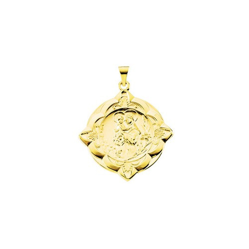 14kt Yellow 31x31mm St. Anthony of Padua Medal