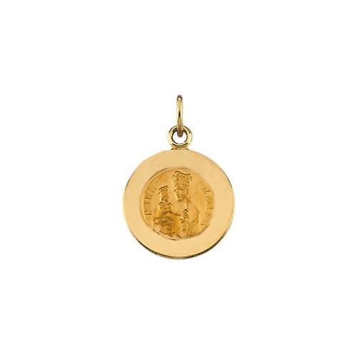 14kt Yellow 18mm Round St. Anne de Beau Pre Medal