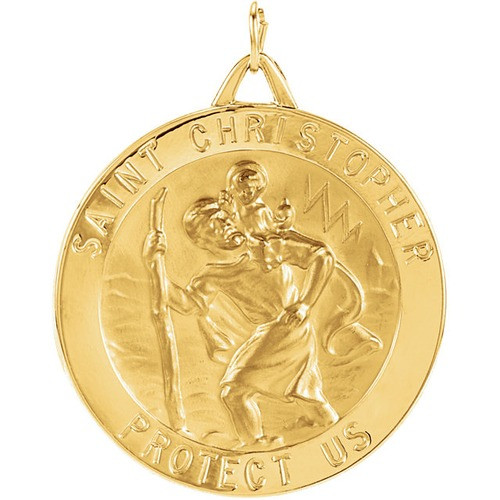 14kt Yellow 33mm St. Christopher Medal