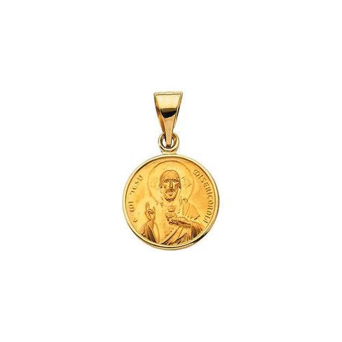 18kt Yellow 13mm Sacred Heart Medal