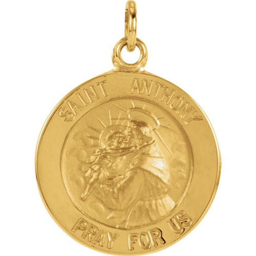 14kt Yellow 15mm St. Anthony Medal