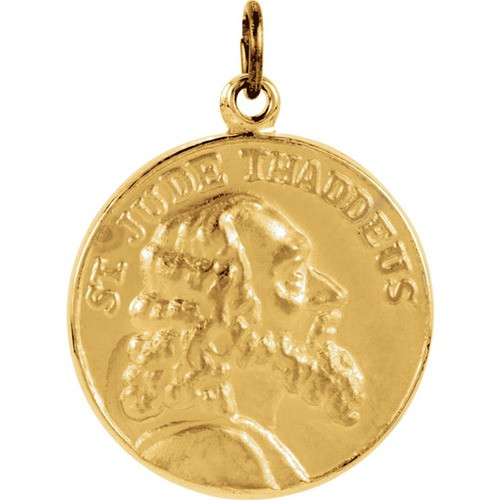 14kt Yellow 19.5mm St. Jude Thaddeus Medal