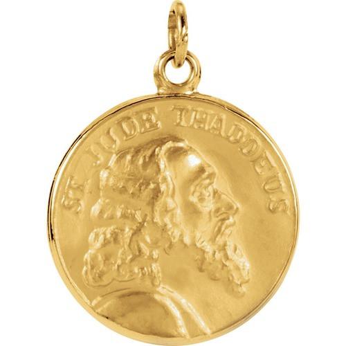 14kt Yellow 15.25mm St. Jude Thaddeus Medal