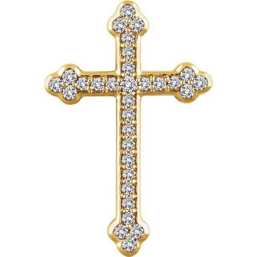 14kt Yellow Gold 1/2 CTW Diamond Cross Pendant 3.3 Grams