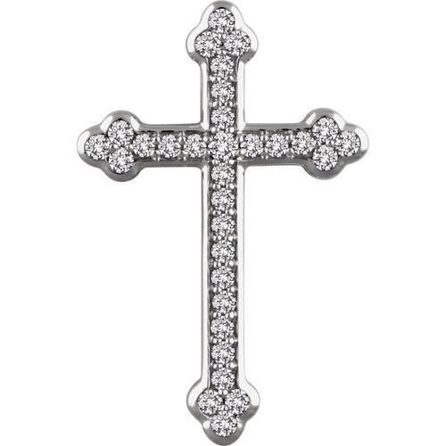 14kt White Gold 1/2 CTW Diamond Cross Pendant 3.3 Grams