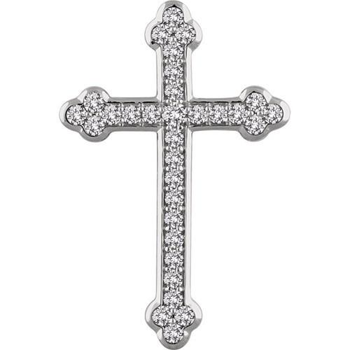 14kt White Gold 1 CTW Diamond Cross Pendant 5.8 Grams