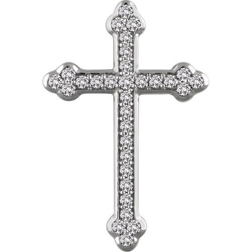14kt White Gold 3/4 CTW Diamond Cross Pendant 4.45 Grams