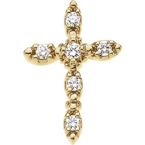 14kt Yellow Gold  1/5 CTW Diamond Cross Pendant