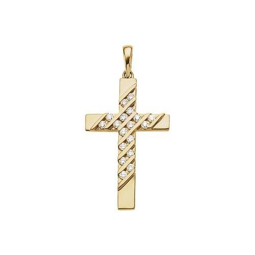 14kt Yellow Gold  .36 CTW Diamond Cross Pendant