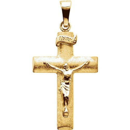 14kt Yellow Crucifix Pendant 24X16 mm