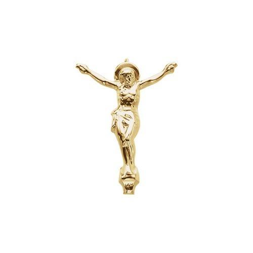 14kt Yellow Crucifix Pendant 23X17