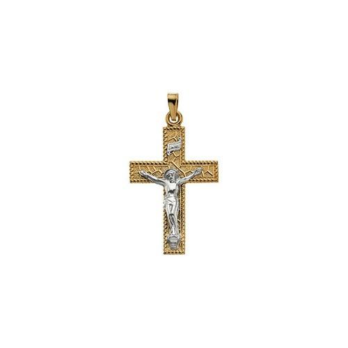 14kt Yellow Gold Crucifix Pendant