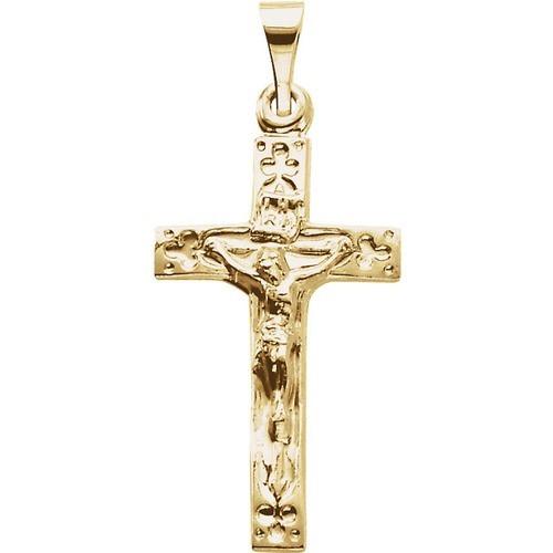 14kt Yellow Crucifix Pendant 20X12