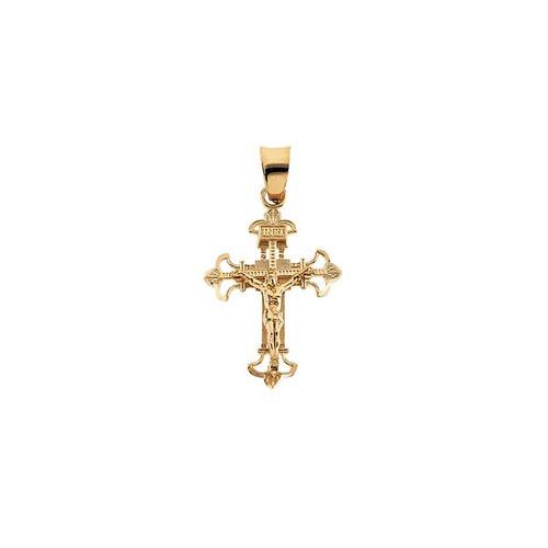 14kt Yellow Crucifix Pendant 23.50X17.50