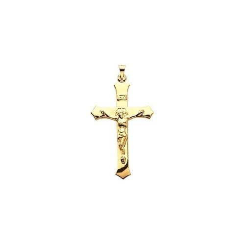 14kt Yellow Crucifix Pendant 39X25.5