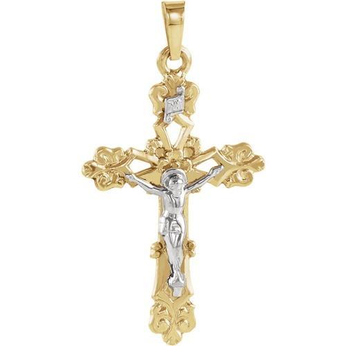 14kt Yellow Crucifix Pendant 26.50X19