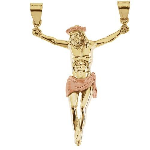 14kt Yellow Crucifix Pendant 53X38.50
