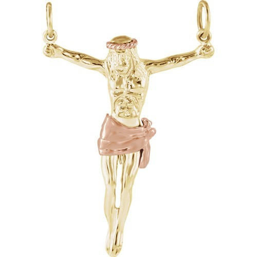 14kt Yellow Crucifix Pendant 34.50X25