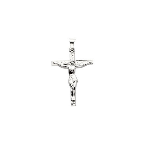 14kt White Cross W/ Crucifix 24.5X19.25