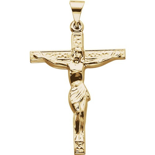 18kt Yellow Cross W/ Crucifix 24.6X19.3