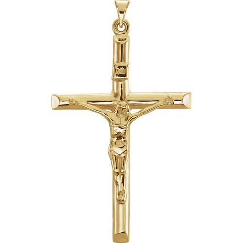 14kt Yellow Crucifix Pendant 43X29