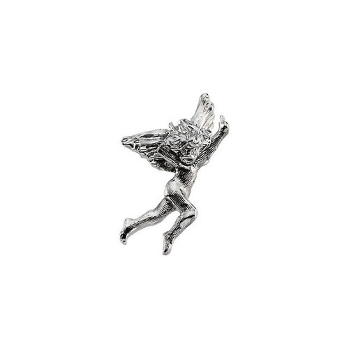 14Kt White Dancing Angel Lapel Pin 20X13