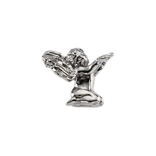 14Kt Yellow Kneeling Angel Lapel Pin 10X12