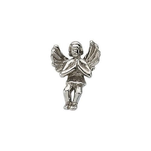 14Kt White Praying Angel Lapel Pin 12X09