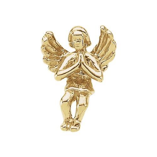 14Kt Yellow Praying Angel Lapel Pin 12X09