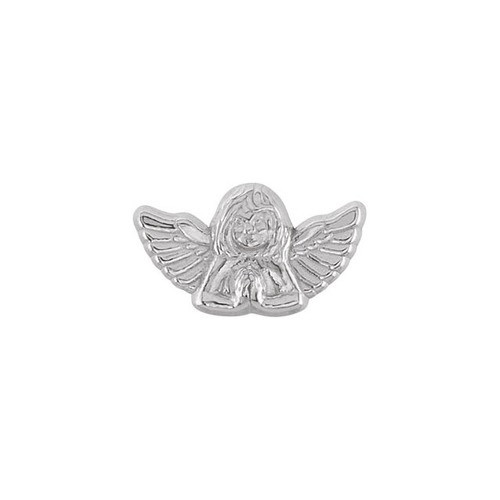 14Kt White Praying Angel Lapel Pin 10X18