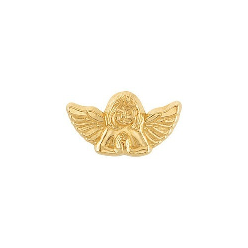 14Kt Yellow Praying Angel Lapel Pin 10X18