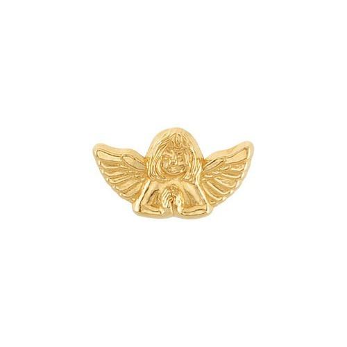 14Kt Yellow Praying Angel Lapel Pin 10X18