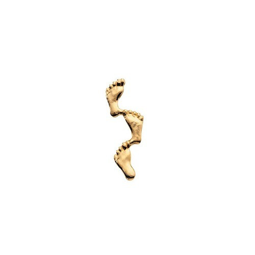 14Kt Yellow Footprints Lapel Pin 08X23