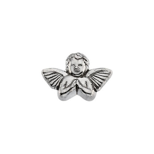 14Kt White Praying Angel Lapel Pin 08X12