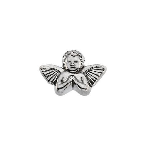 14Kt White Praying Angel Lapel Pin 11X16