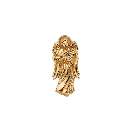 14Kt Yellow Angel w/ Harp Lapel Pin 14X06