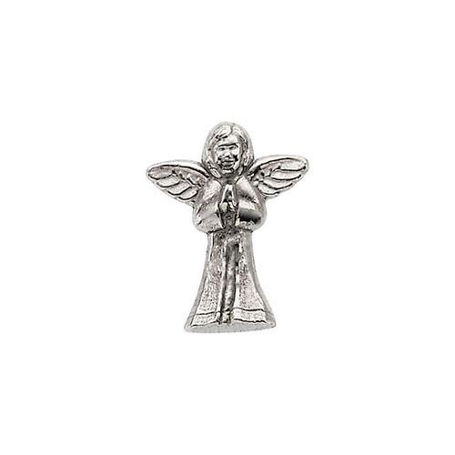 14Kt White Praying Angel Lapel Pin 12X10