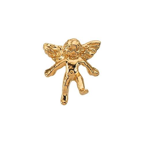 14Kt Yellow Angel Lapel Pin 11X10