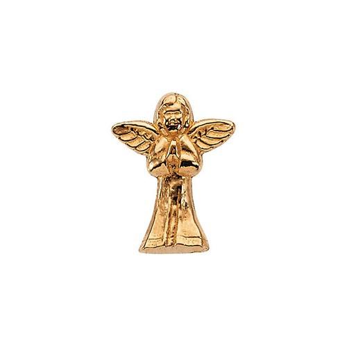 14Kt Yellow Praying Angel Lapel Pin 12X10