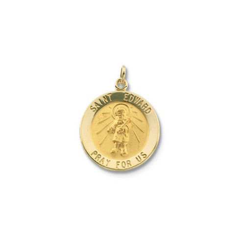 14kt Yellow Gold 18.25mm Round St. Edward Medal