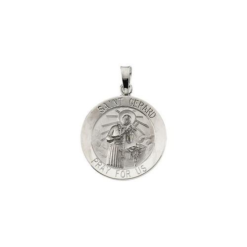 14kt White Gold 18mm St. Gerard Medal