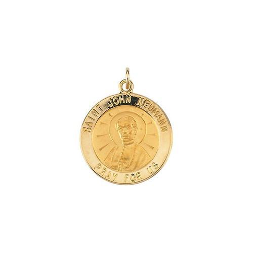 14kt Yellow Gold 18.25mm Round St. John Neumann Medal