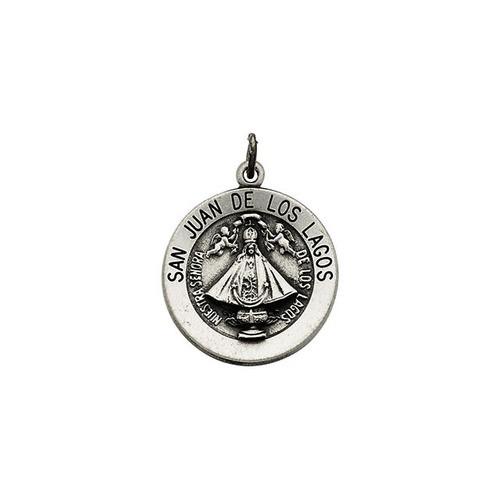 Sterling Silver 18.25mm Round San Juan de Los Lagos Medal