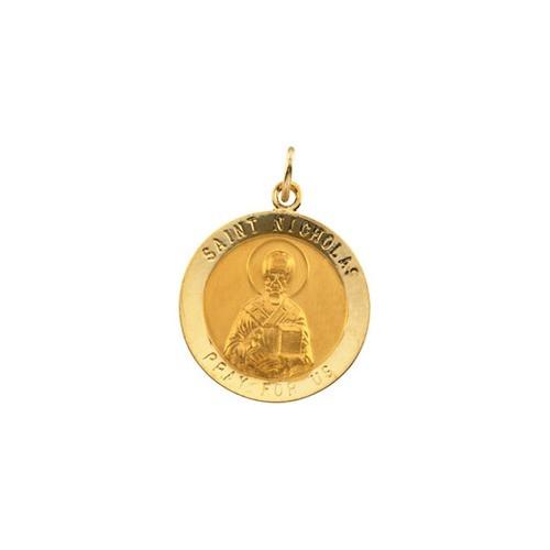 14kt Yellow Gold 18.25mm St. Nicholas Medal