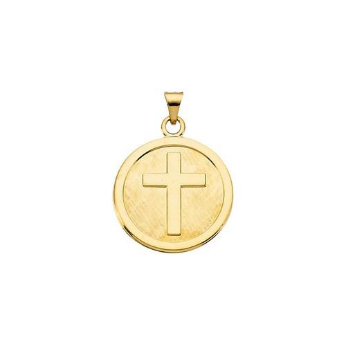 14kt Yellow Gold 23mm Cross Pendant