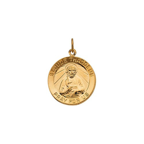 14kt Yellow Gold 18mm St. Jude Medal