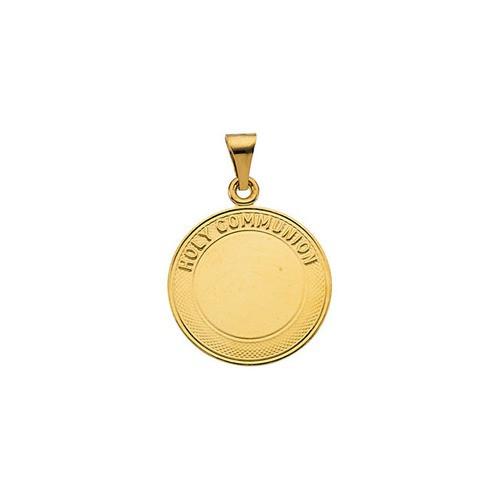 14kt Yellow Gold 19mm Holy Communion Pendant