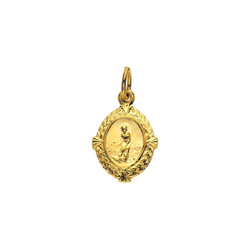 14kt Yellow Gold 12x9mm St. Lazarus Medal